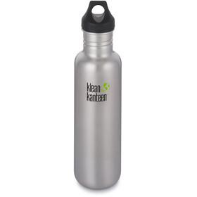 Klean Kanteen Classic Drikkeflaske Loop Cap 800ml sølv